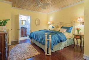 bedroom in the Driftwood Lagoon room
