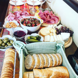 hors d'oeuvres spread at happy hour