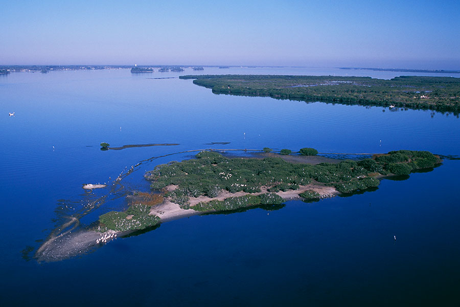aerial view of Pelican Island National Wildlife Refuge