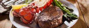 tasty surf & turf steak and lobster meal